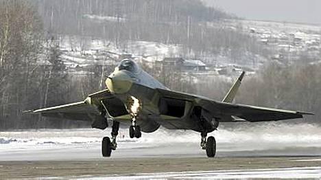 Superhävittäjästä toivotaan Venäjän sotateollisuuden uutta vientivalttia.