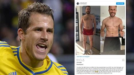 """Entinen Ruotsin maajoukkuejalkapalloilija Tobias Hysén ajautui uransa jälkeen huonoon kuntoon. """"16 viikon helvetillä"""" hän onnistui valtavassa muodonmuutoksessa."""