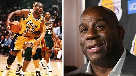 """Earvin """"Magic"""" Johnson on yksi kaikkien aikojen parhaista koripalloilijoista. Johnson täytti keskiviikkona 60 vuotta."""