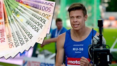 Juoksija Ville Lampinen yllättyi kuultuaan lahjoittajasta.