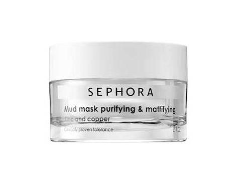 Sephora Mud Mask Purifying & Mattifying -kasvonaamio, noin 15 € / 60 ml.