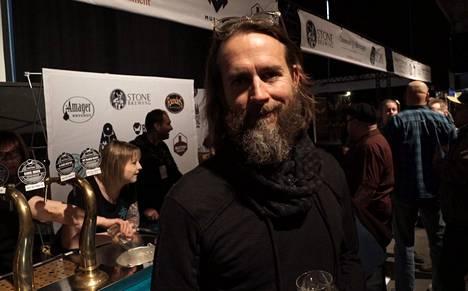 Greg Koch kävi monipolvisella Euroopan-vierailullaan myös Helsinki Beer Festival -tapahtumassa.