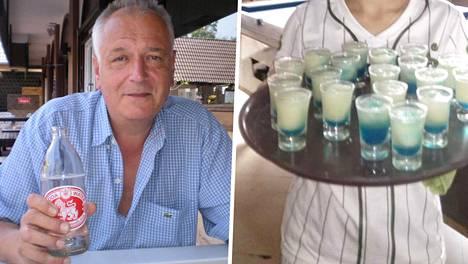 Jorma juhli Nuoria Leijonia tilaamalla pöydän täyteen sinivalkoisia drinkkejä.