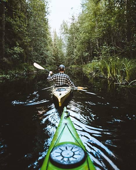 Milloin olit viimeksi melomassa? Oravareitti on Suomen ensimmäinen biologisesti tutkittu, maastoon merkitty vesiluontopolku.