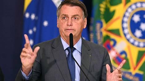 Brasilian presidenttiä Jair Bolsonaroa (kuvassa) on verrattu Yhdysvaltojen edelliseen presidenttiin Donald Trumpiin.