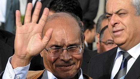 Tunisian uusi presidentti Moncef Marzouki.