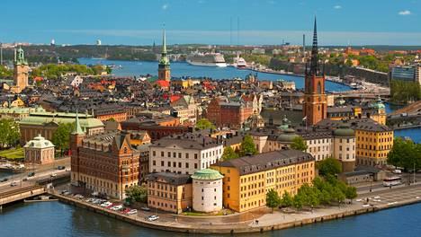 Näkymä Tukholman vanhaankaupunkiin.