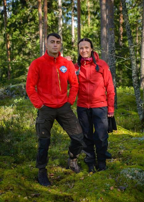 Makwan Amirkhani ja Mira Luoti.