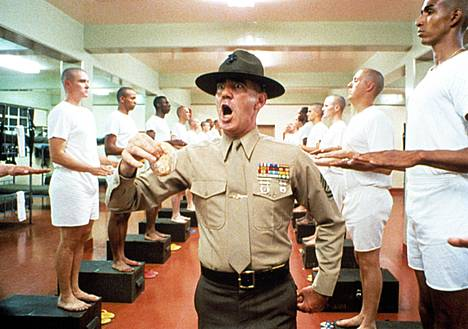 R. Lee Ermey Full Metal Jacketissa.