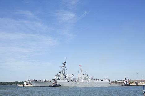 USS Jason Dunham saapui Helsingin länsisatamaan perjantaina.