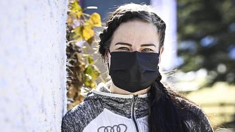 Krista Pärmäkoski Oberstdorfissa hiihdon MM-kisoissa maaliskuun 1. päivä.