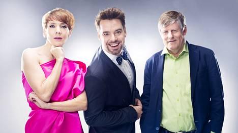 Vahvasti aloittaneessa Tähdet, tähdet -ohjelmassa nähdään Maria Veitola, Mikko Leppilampi ja Juhani Merimaa.
