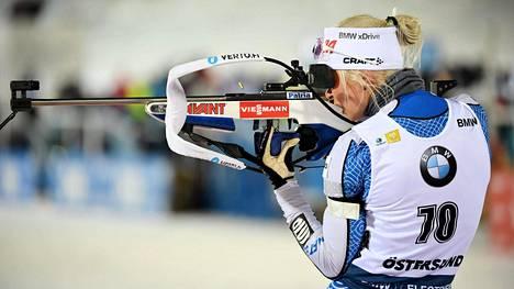Mari Eder sijoittui viime kauden maailmancupissa parhaimmillaan neljänneksi.