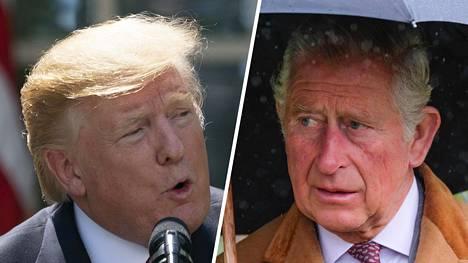 Donald Trump ja prinssi Charles tapaavat.
