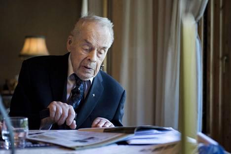 Tuomas Gerdt kertoi sota-ajasta mediassa vain harvakseltaan. Vuonna 2017 itsenäinen Suomi täytti 100 vuotta, ja Gerdt muisteli sotakokemuksiaan Ilta-Sanomien haastattelussa.