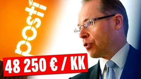 Postin toimitusjohtaja Heikki Malinen tienasi kovat tulot viime vuonna.