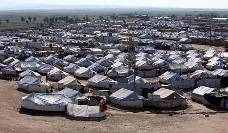 Yleiskuva al-Holin leiriltä 2. huhtikuuta 2019.