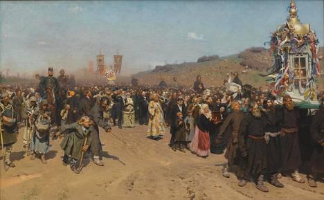 Ristisaatto Kurskin kuvernementissa (1881-1883) antoi käsityksen venäläisestä todellisuudesta 1800-luvun loppupuolella. Se on hurja joukkokohtaus, jonka 70 hahmosta löytyy valtavasti sisältöä.