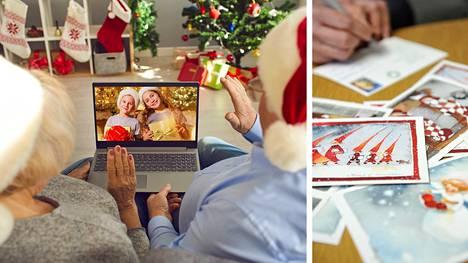 Jouluna ikäihmisiä voi ilahduttaa soittamalla tai etäyhteyden avulla. Myös perinteiset kirjeet ja kortit tuovat hyvää mieltä.
