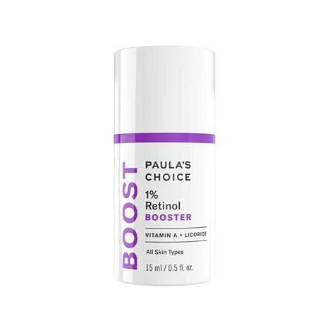 Paula's Choice 1% Retinol Booster -tippoja voi levittää iholle sellaisenaan tai sekoittaa oman seerumin tai kasvovoiteen joukkoon, jolloin sekoitus on hellävaraisempi iholle. Tuote sopii myös silmänympärysiholle voiteeseen sekoitettuna, 57 € / 15 ml.