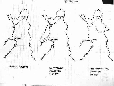 Asiakirjojen kätköistä paljastui, miten paljon harhaan lentäjät suunnistivat.