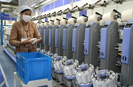 Murata Machinery on valmistanut koneita muun muassa lankojen kerimiseen.