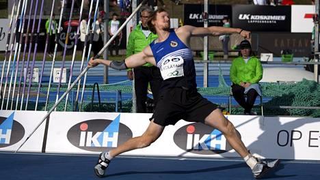 Lassi Etelätalo nakkasi sunnuntaina miesten keihään Suomen mestariksi tuloksella 84,11. Samalla ylittyi Dohan MM-kisojen tulosraja.