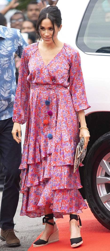 Herttuatar Meghan Fijillä lokakuussa 2018.