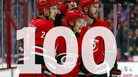 Sebastian Aho rikkoi sadan maalin rajapyykin NHL:ssä.