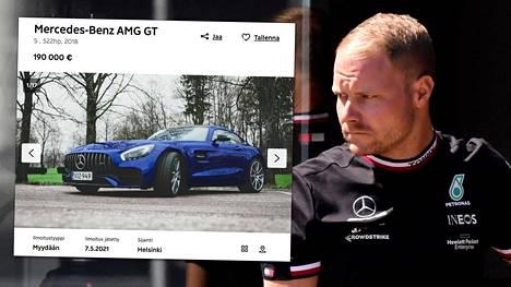 Valtteri Bottas myy vuosimallin 2018 Mersuaan.