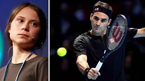Roger Federer (oik.) sanoi olevansa kiitollinen Greta Thunbergin ja muiden ilmastoaktiivien kritiikistä.