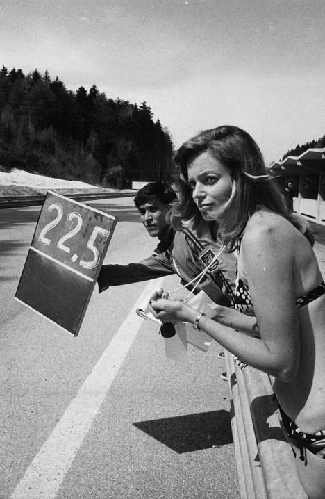 Soili Karme oli tuttu näky RR-ajojen varikolla 1960-70-lukujen vaihteessa.