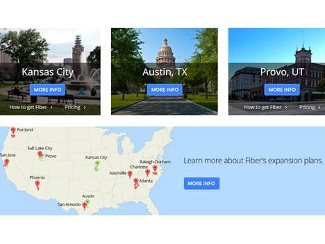 Google Fiberin suunnitelmia