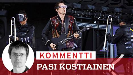 Muse tarjoili tiistaina jälleen kerran musiikkiaan ja suurta show'taan suomalaisyleisölle Helsingin Suvilahdessa.