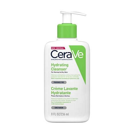 Apteekkisarja CeraVen pesuneste sopii erityisesti kuivalle ja ärtyneelle iholle ja sillä voi pestä myös kasvot, 9 € / 236 ml.