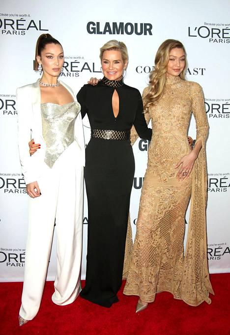 Mallit Bella Hadid ja Gigi Hadid ovat Yolandan tyttäret.