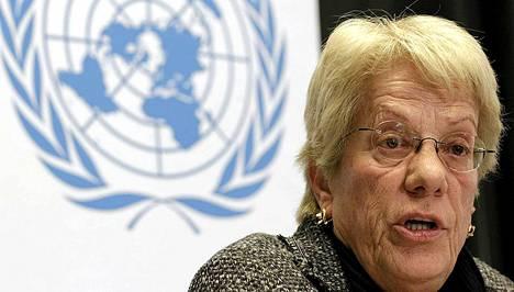 Carla del Ponte, kansainvälisen rikostuomioistuimen entinen syyttäjä, kehottaa kansainvälistä yhteisöä ja YK:n turvallisuusneuvostoa selvittämään Syyrian sotarikokset.
