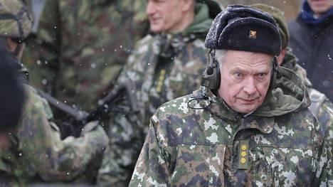 Presidentti Niinistö vieraili keskiviikkona Hämeen panssaripataljoonassa.