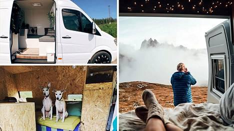 Suomalaiset innostuivat vanlife-buumista. Tuunatuissa retkeily- ja pakettiautoissa kelpaa taittaa matkaa vaikka maailman ääriin.