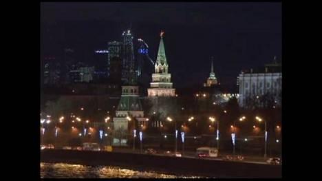 Earth Hour pimensi Kremlin