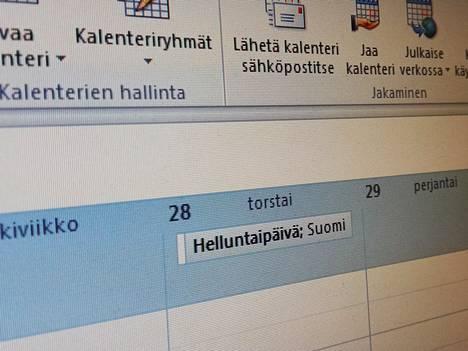 Ei, torstai ei ole vapaapäivä, vaikka Outlook niin väittää.