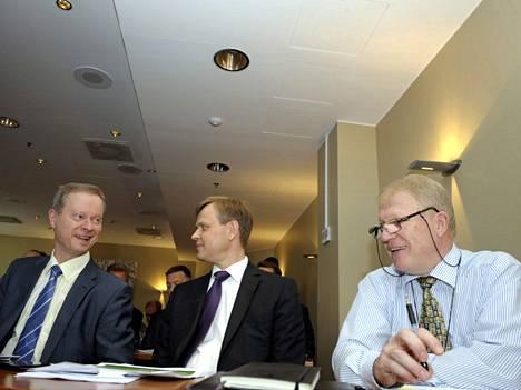 SOK:n pääjohtaja Kuisma Niemelä, LähiTapiolan pääjohtaja Erkki Moisander ja S-Pankin hallituksen puheenjohtaja Jari Annala.