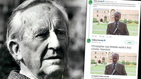 J.R.R. Tolkienin (vas.) poika Christopher Tolkien on kuollut.