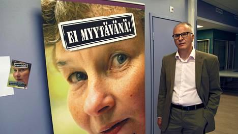 Kehitysvammaisten palvelusäätiön toimitusjohtaja Markku Virkamäki, joka kuuluu kansalaisaloitteen alullepanijoihin.