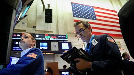 Kaupankäyntiä New Yorkin pörssissä perjantaina 15. kesäkuuta.