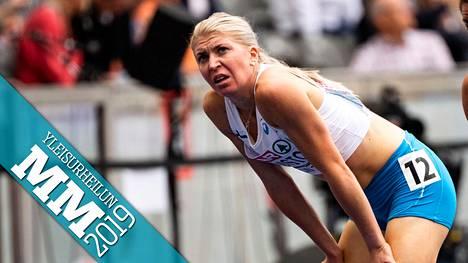 Sara Kuivisto osallistuu Dohassa sekä 800 että 1500 metrin juoksuun. Kuva viime kesän EM-kisoista Berliinistä.
