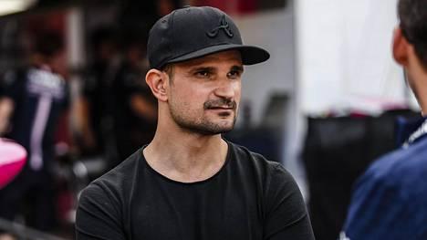 Vitantonio Liuzzi Monacon F1-varikolla 2018.