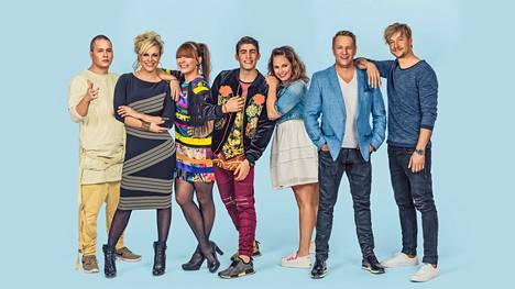 Nikke Ankara, Laura Voutilainen, Irina, Robin, Petra, Olli Lindholm ja Samu Haber esiintyivät Vain elämää -sarjan kuudennella kaudella.