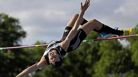 Bohdan Bondarenko voitti Timanttiliigan korkeushyppykilpailun New Yorkissa.