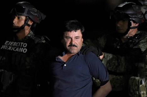 """Joaquin """"El Chapo"""" Guzman pidätettiin tammikuussa 2016."""